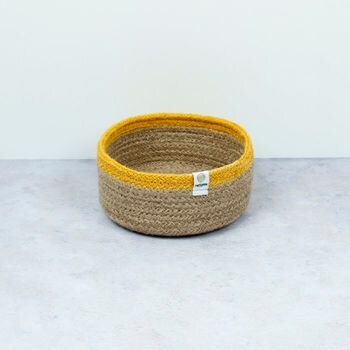 Respiin Small Seagrass Basket - Yellow