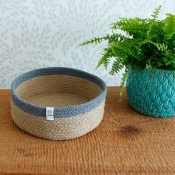 Respiin Medium Seagrass Basket - Grey