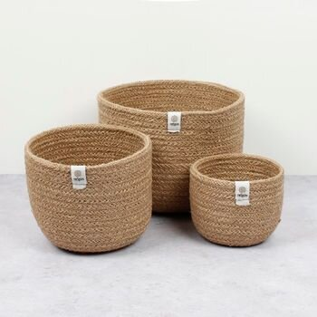 Respiin Tall Jute Bowls - Natural