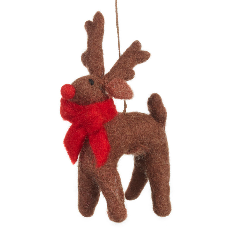 Brown Rudolph Hanging Decoration