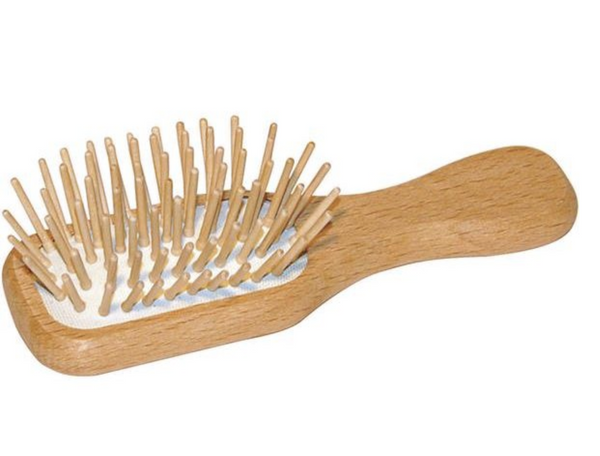 Eco Living Small Wooden Travel Hair Brush
