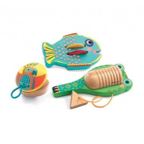 Djeco Animambo Set Of 3 Percussion Instruments