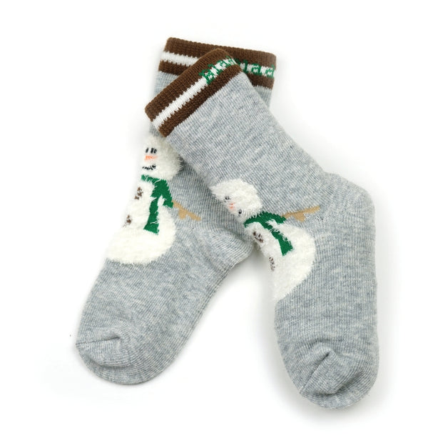 Blade And Rose Snowman Fluffy Christmas Socks