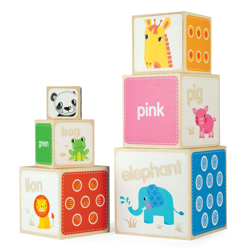 Bigjigs Animal Stacking Cubes