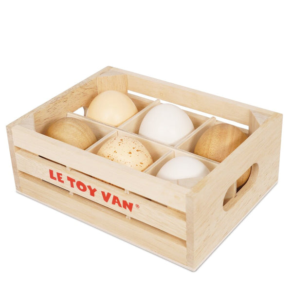 Le Toy Van Half A Dozen Farm Eggs Crate