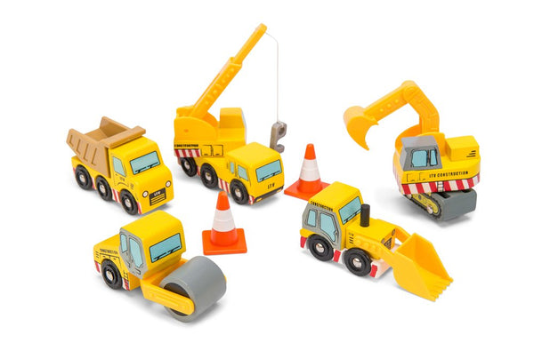 Le Toy Van Construction Vehicles Set