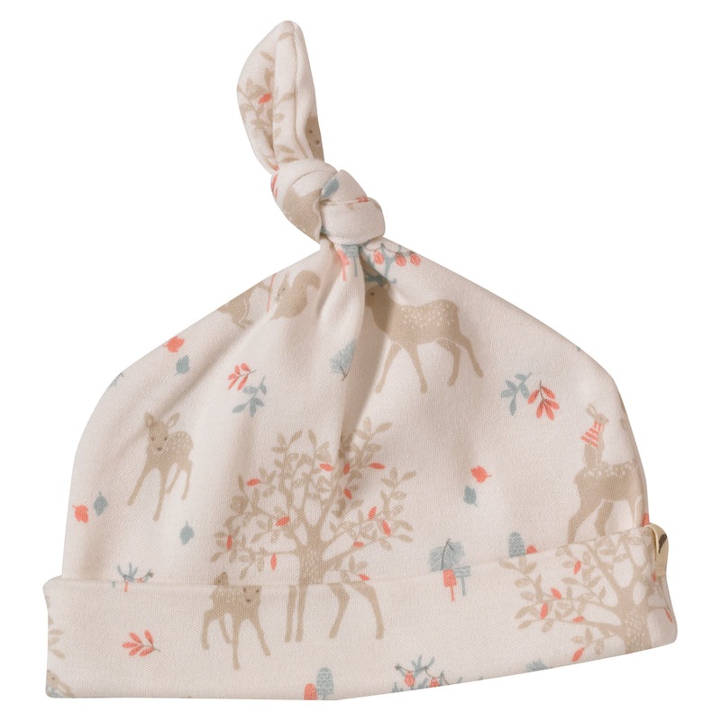 Pigeon Woodland Deer Knotted Hat Taupe