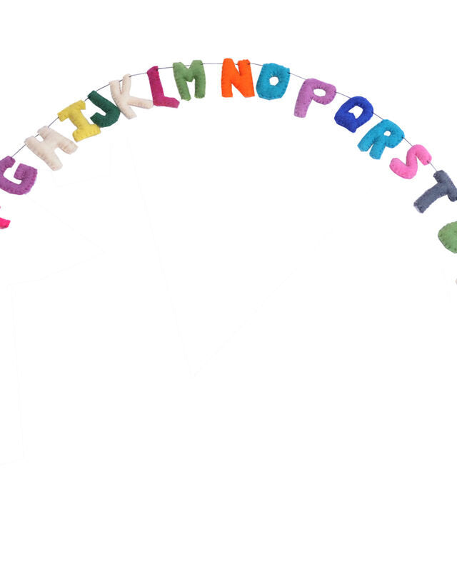 Funky Yak Multi-Coloured Felt Alphabet Bunting