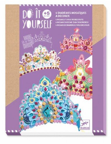Djeco Diy Mosaic Tiaras - Like A Princess
