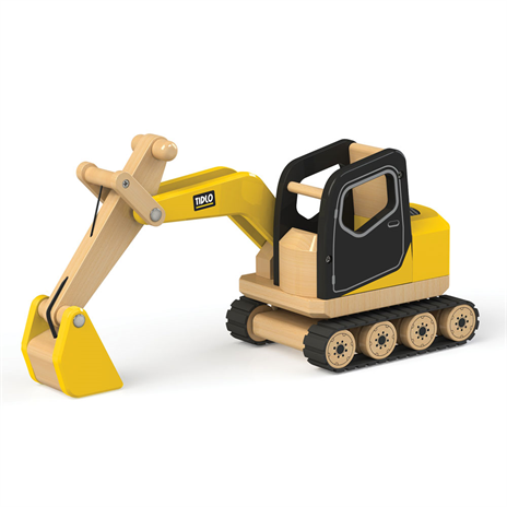 Wooden construction vehicle
