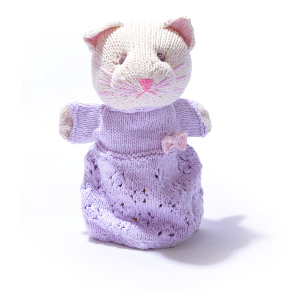 Chunki Chilli Organic Cotton Cat Hand Puppet in Organic Cotton