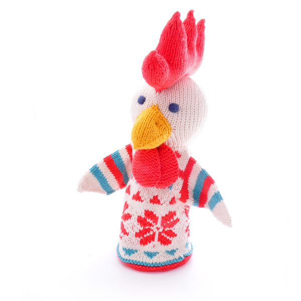 Chunki Chilli Chicken Hand Puppet in Organic Cotton