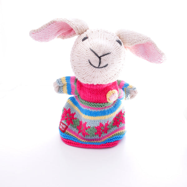Chunki Chilli Lamb Hand Puppet in Organic Cotton