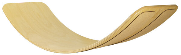 Das.Brett Bouncy Balance Board - Natural Lacquered With Cork