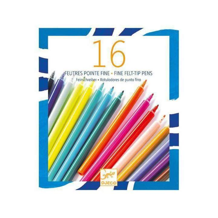 Djeco Colours - 16 Thin Markers