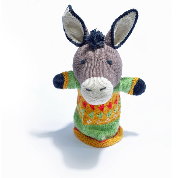 Chunki Chilli Donkey Hand Puppet in Organic Cotton
