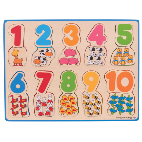 Bigjigs Number & Colour Matching Puzzle