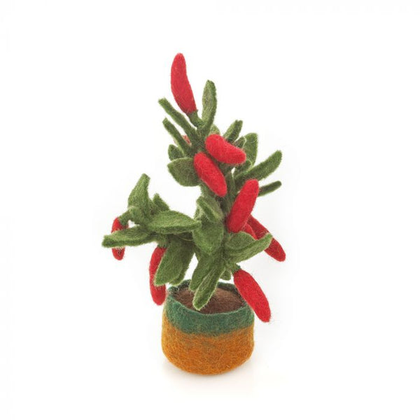 Felt So Good Handmade Felt Standing Chilli Plant Decoration