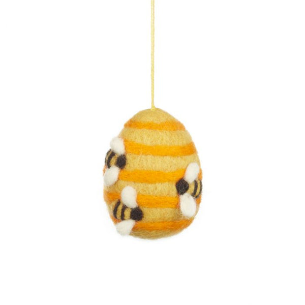Felt So Good Handmade Hanging Busy Beehive Felt Biodegradable Decoration