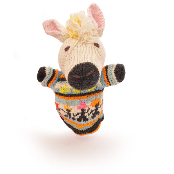 Chunki Chilli White Horse Hand Puppet in Organic Cotton