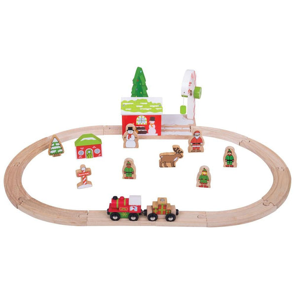 Bigjigs Winter Wonderland Train Set