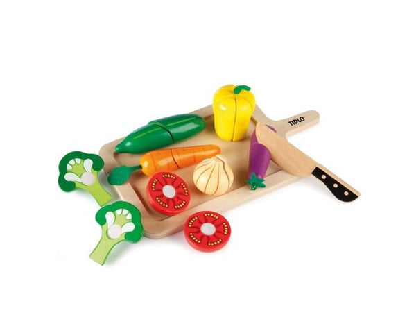 Wooden play vegetables