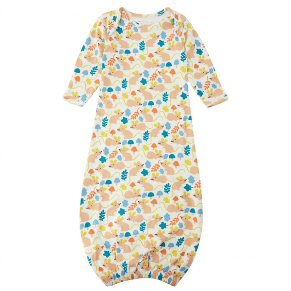 Piccalilly Baby Nightgown -Fieldmouse