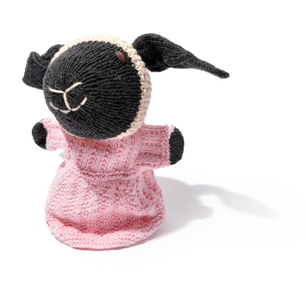 Chunki Chilli Hand Knitted Sheep Hand Puppet in Organic Cotton