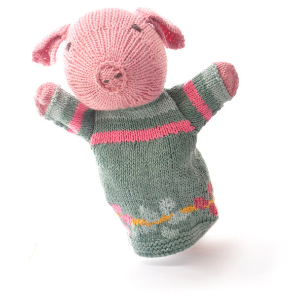 Chunki Chilli Pig Hand Puppet in Organic Cotton