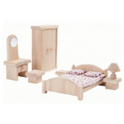 Plan Toys Dolls House Furniture - Bedroom