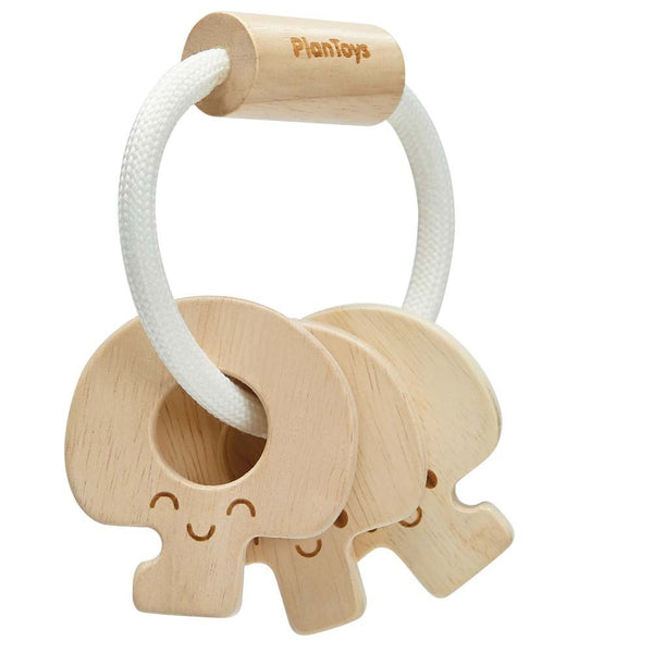 Plan Toys Natural Key Rattle