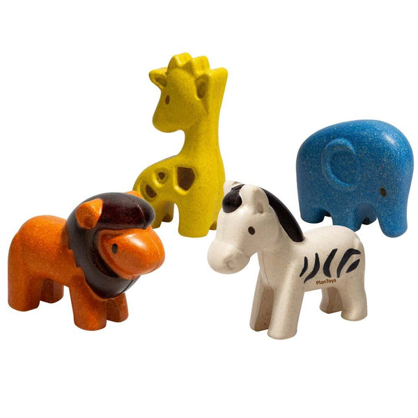 Plan Toys Wild Animals Set