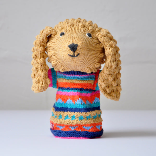 Chunki Chilli Poodle Hand Puppet in Caramel Colourway
