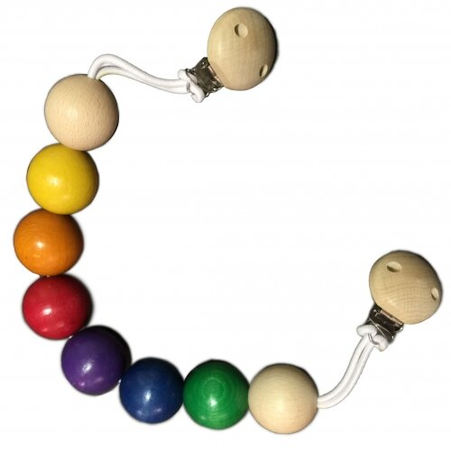 Gluckskafer Rainbow Ball Pram Chain