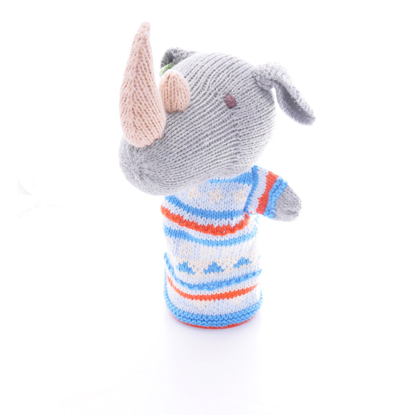 Chunki Chilli Rhino Hand Puppet in Organic Cotton