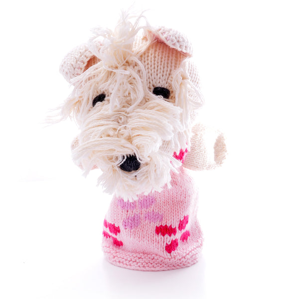 Chunki Chilli Scottie Dog Hand Puppet in Organic Cotton