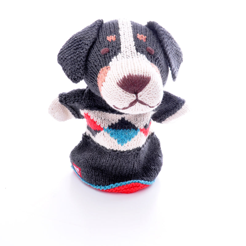 Chunki Chilli Sheepdog Hand Puppet in Organic Cotton