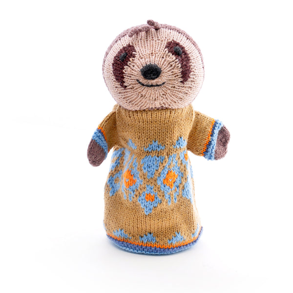 Chunki Chilli Sloth Hand Puppet in Organic Cotton