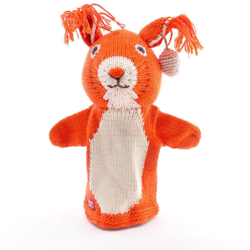 Chunki Chilli Squirrel Hand Puppet in Organic Cotton