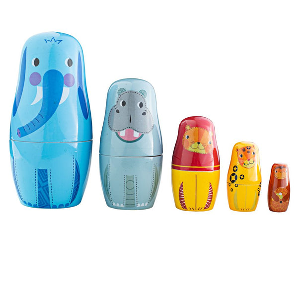 Tidlo Jungle Animal Russian Dolls