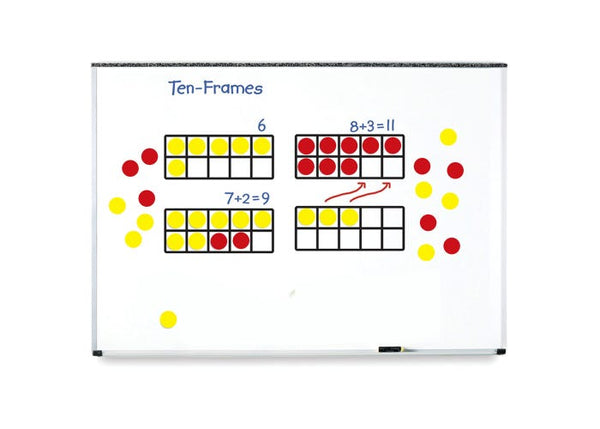 Leaning Resources Ten-Frame With Counters Demonstration Clings
