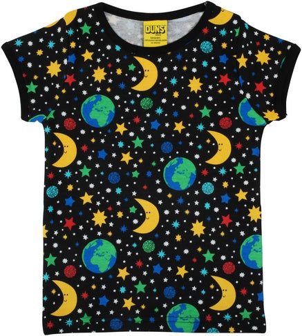 Duns Short Sleeve Top Child - Mother Earth Black
