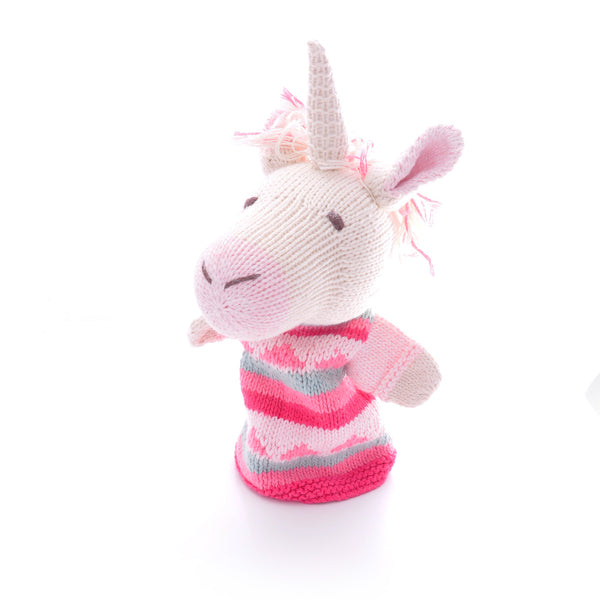 Chunki Chilli Unicorn Hand Puppet in Organic Cotton