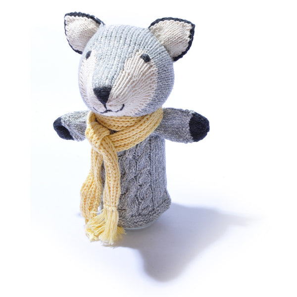 Chunki Chilli Organic Cotton Wolf Hand Puppet in Organic Cotton