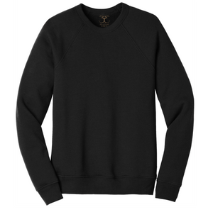 Basic unisex long sleeve fleece sweatshirt
