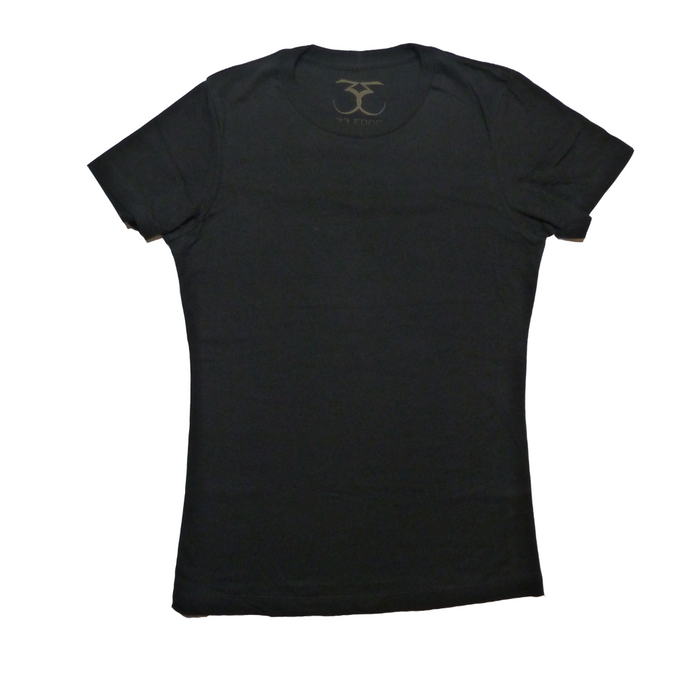 Women's fitted short sleeve crew neck t-shirt 100% cotton