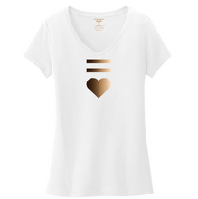 "Load image into Gallery viewer, ""Equal Heart"" women's v-neck"