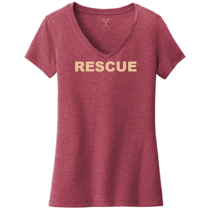 """Rescue"" women's v-neck"