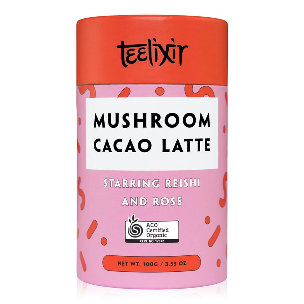 Teelixir Mushroom Cacao Latte with Reishi Dual Extract Powder & Rose - 100g