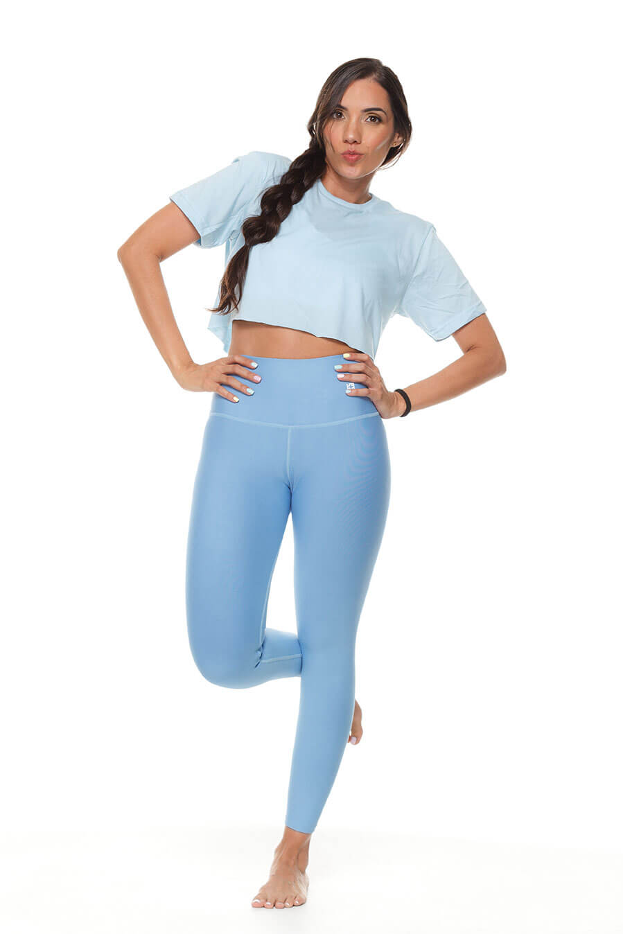 Leggings azul celeste